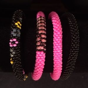 Jewelry - BEADED BRACELETS - Handmade in Nepal